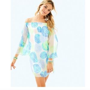 Lilly Pulitzer Abi Silk Off the Shoulder Dress